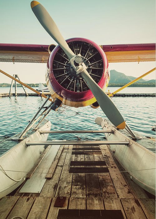 Propeller Greeting Card featuring the photograph Seaplane Dock by Shaunl