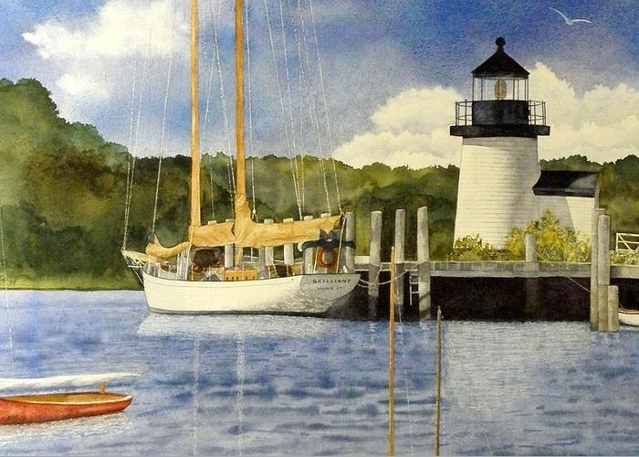 Mystic Setting Paintings Greeting Cards
