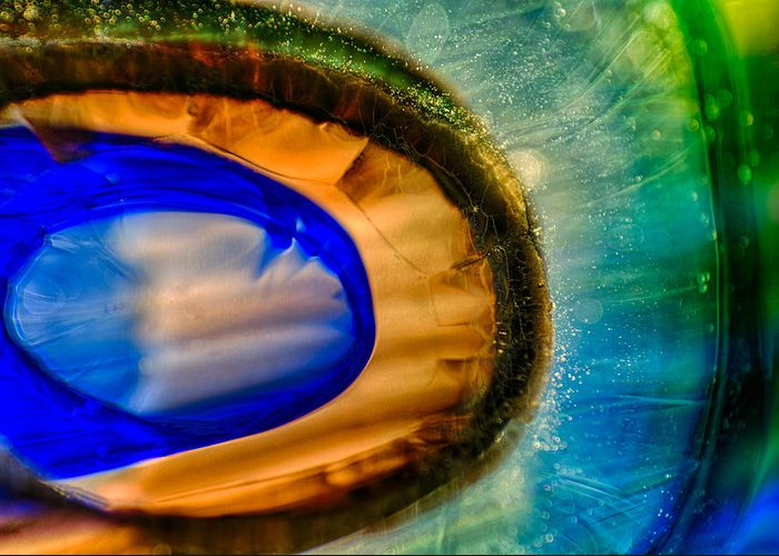 Blue Greeting Card featuring the photograph Searching by Omaste Witkowski