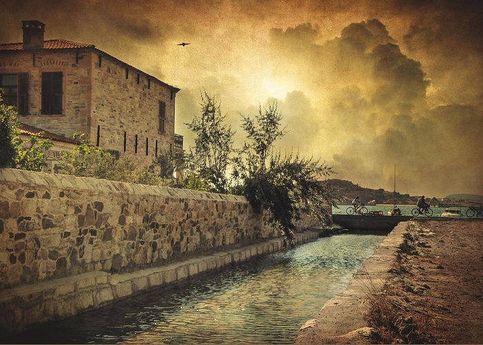 Mediterranean Greeting Card featuring the photograph Searching The Past by Taylan Apukovska