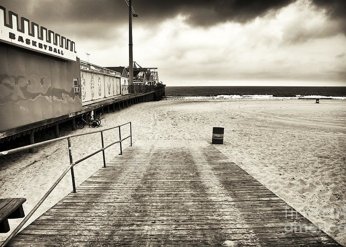 Seaside Beach Entry Greeting Card featuring the photograph Seaside Beach Entry by John Rizzuto