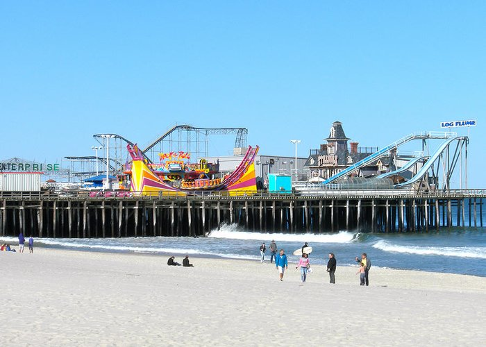 Ocean Greeting Card featuring the photograph Seaside Casino Pier by Neal Appel