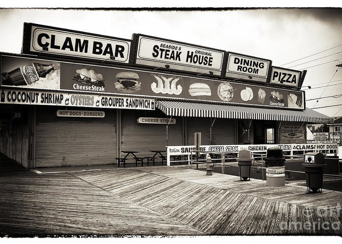Seaside Clam Bar Greeting Card featuring the photograph Seaside Clam Bar by John Rizzuto