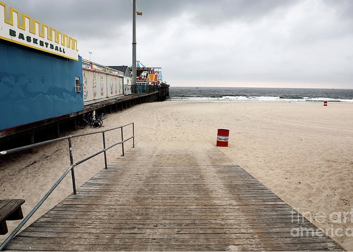 Seaside Heights Beach Greeting Card featuring the photograph Seaside Heights Beach by John Rizzuto
