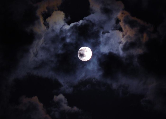 Sky Greeting Card featuring the photograph Seasonal Blue Moon IIi by Anthony Thomas