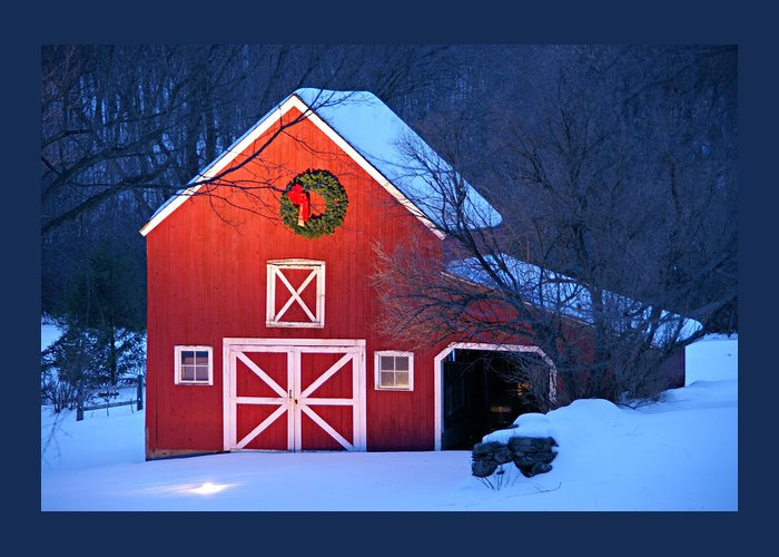 Holiday Greetings Greeting Card featuring the photograph Seasons Greetings by Thomas Schoeller