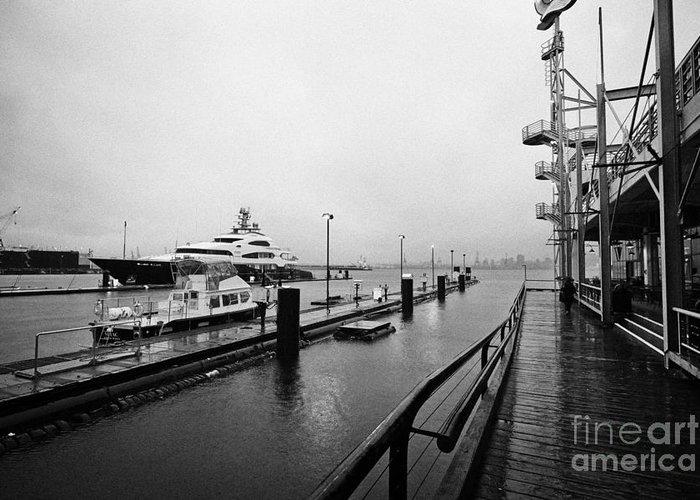 Seaspan Greeting Card featuring the photograph seaspan marine tugboat dock city of north Vancouver BC Canada by Joe Fox