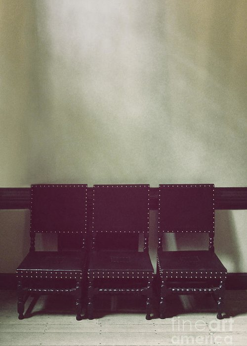 Chairs Greeting Card featuring the photograph Seating For Three by Margie Hurwich