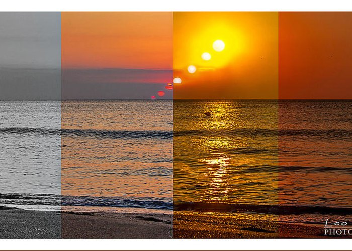 Greeting Card featuring the photograph Secventa Rasarit Neptun Landscape by Leo Coste