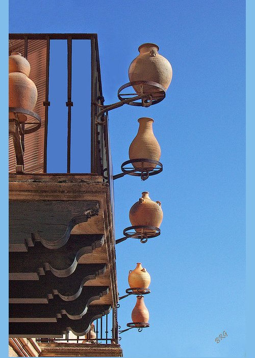 Blue Greeting Card featuring the photograph Sedona Jugs by Ben and Raisa Gertsberg