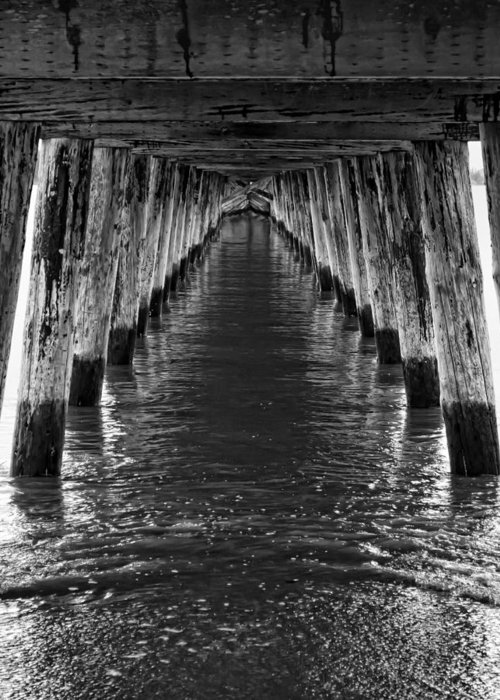 Pier Greeting Card featuring the photograph See Forever From Here by Heather Applegate