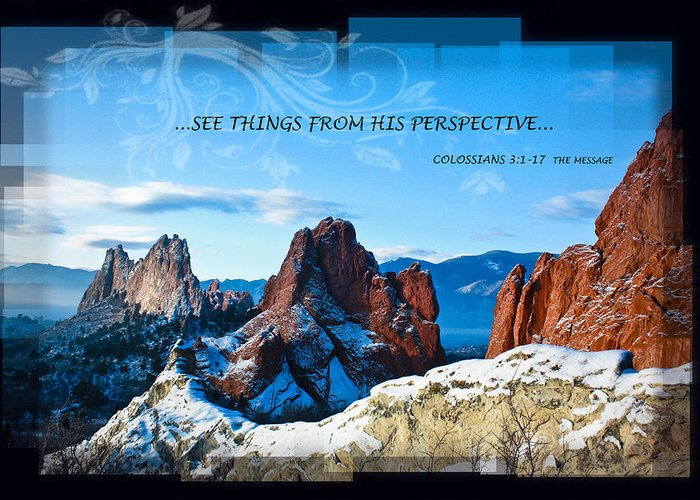 Snow Greeting Card featuring the photograph See Things From His Perspective by Bruce Hamel