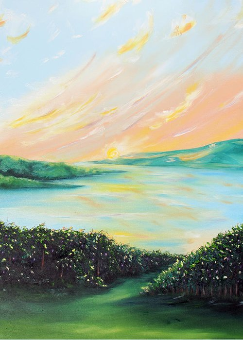 Lake Greeting Card featuring the painting Seeded Spirit by Meaghan Troup