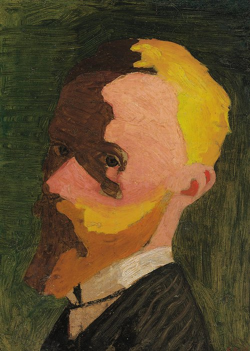Self Portrait Greeting Card featuring the painting Self Portrait by Edouard Vuillard
