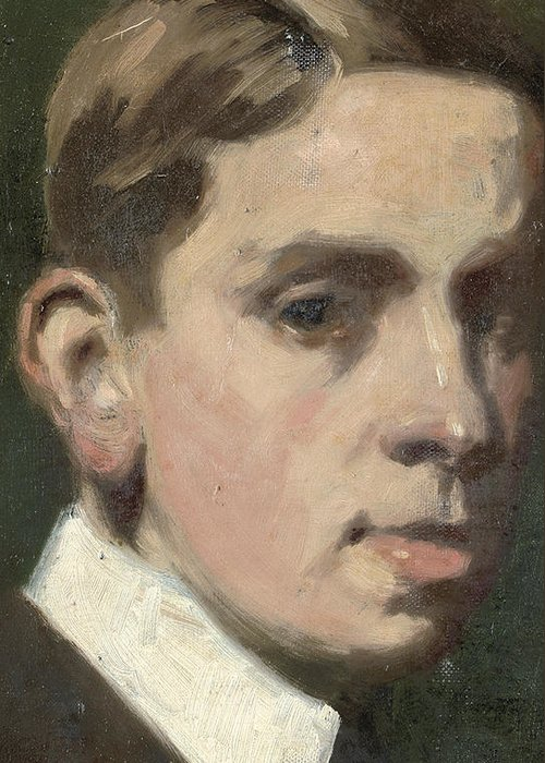 Self Portrait Greeting Card featuring the painting Self Portrait by Francis Campbell Boileau Cadell