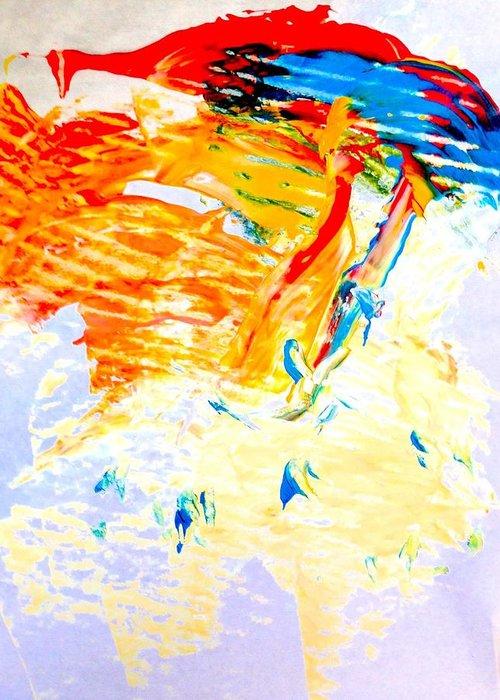 Valerii Klymchuk Greeting Card featuring the painting Self by Valerii Klymchuk