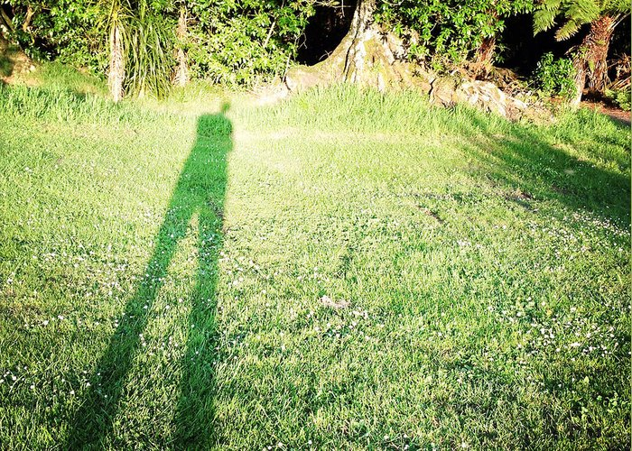 Alone Greeting Card featuring the photograph Selfie Shadow by Les Cunliffe