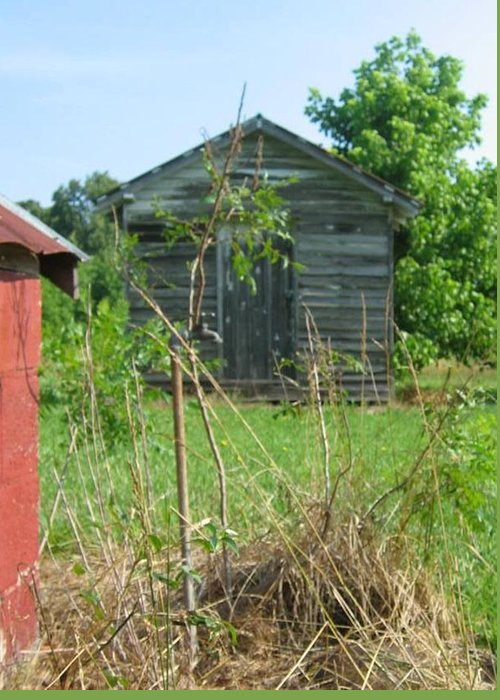 Old Greeting Card featuring the photograph Selma Shed by Bonnie Clark Weatherford