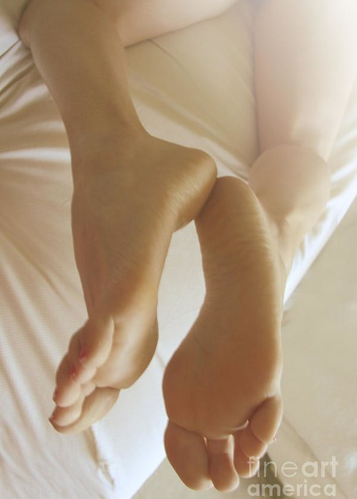 Feet Greeting Card featuring the photograph Sensual Feet by Tos