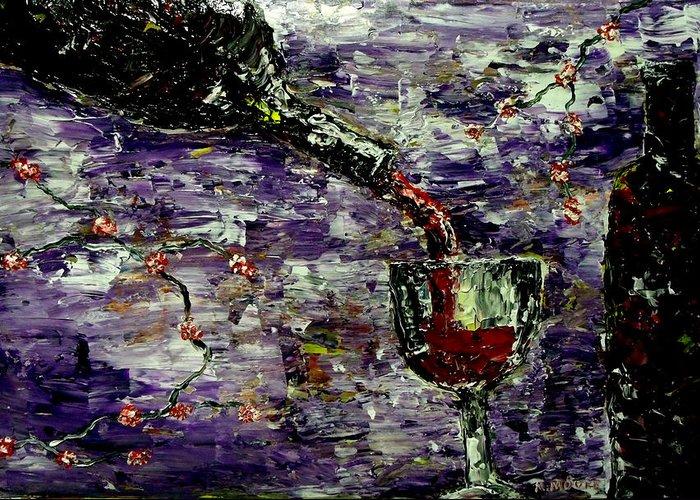 Sensual Pleasures Greeting Card featuring the painting Sensual Pleasures by Mark Moore