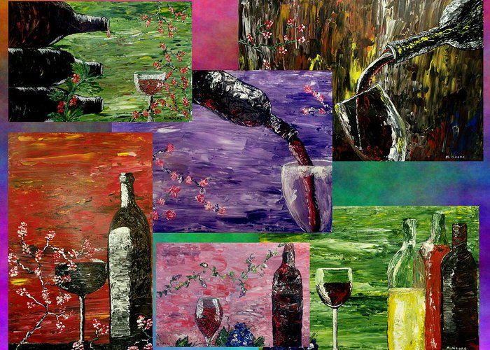 Popular Greeting Card featuring the painting Sensual Wine by Mark Moore