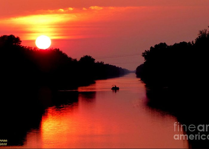 Landscape Greeting Card featuring the photograph September Sunset by Rennae Christman