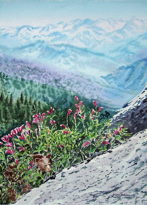 Snow On Mountains Greeting Cards