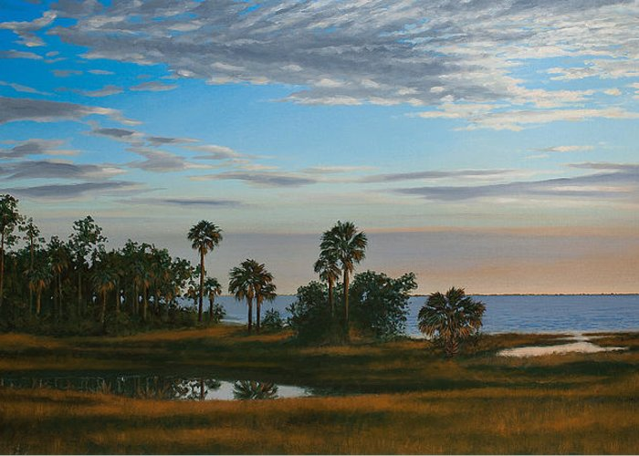 Florida Greeting Card featuring the painting Serenity by Rick McKinney