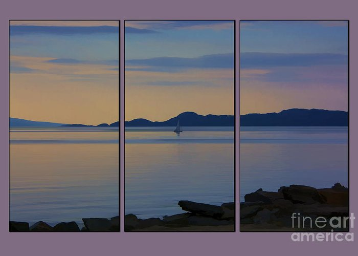 Scottish Loch Greeting Card featuring the photograph Serenity Tryptych by Chris Thaxter