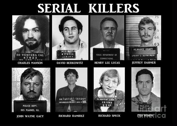 Paul Ward Greeting Card featuring the photograph Serial Killers - Public Enemies by Paul Ward