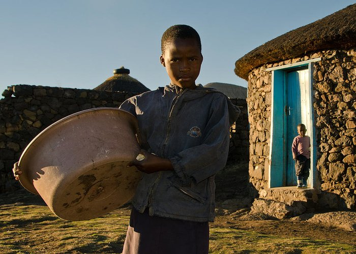 African Greeting Card featuring the photograph Serious Morning by Aaron Bedell