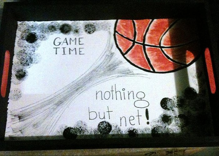 Greeting Card featuring the photograph Serving Tray For Gameday by Gwenn Dunlap