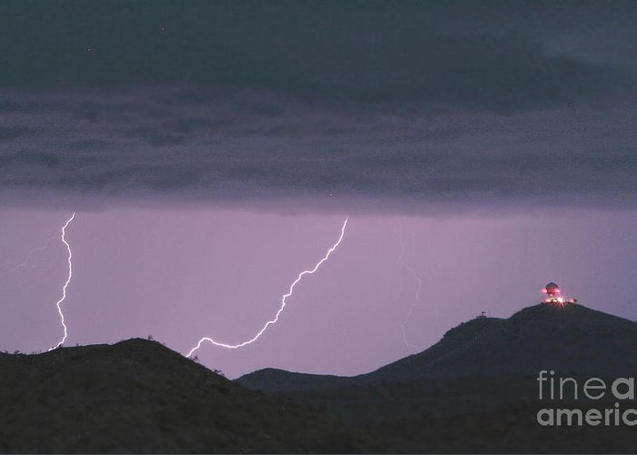Lightning Greeting Card featuring the photograph Seven Springs Lightning Strikes by James BO Insogna