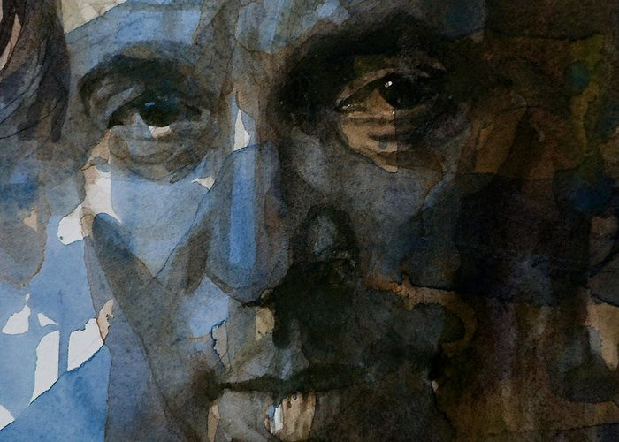 Bruce Springsteen Greeting Card featuring the painting Shackled And Drawn by Paul Lovering