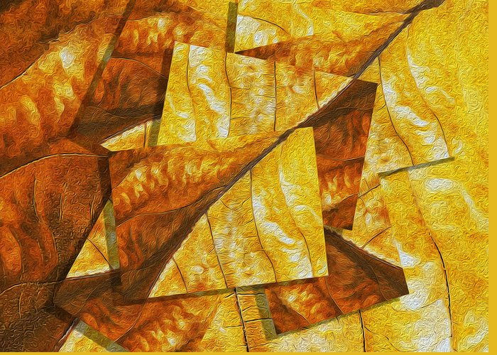 Digital Greeting Card featuring the painting Shades Of Autumn by Jack Zulli