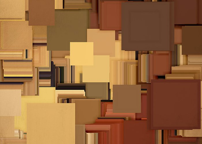 Brown Greeting Card featuring the digital art Shades Of Brown by Lourry Legarde