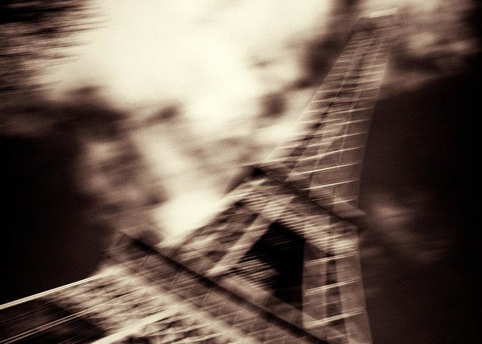 Eiffel Tower Greeting Card featuring the photograph Shades Of Paris by Dave Bowman