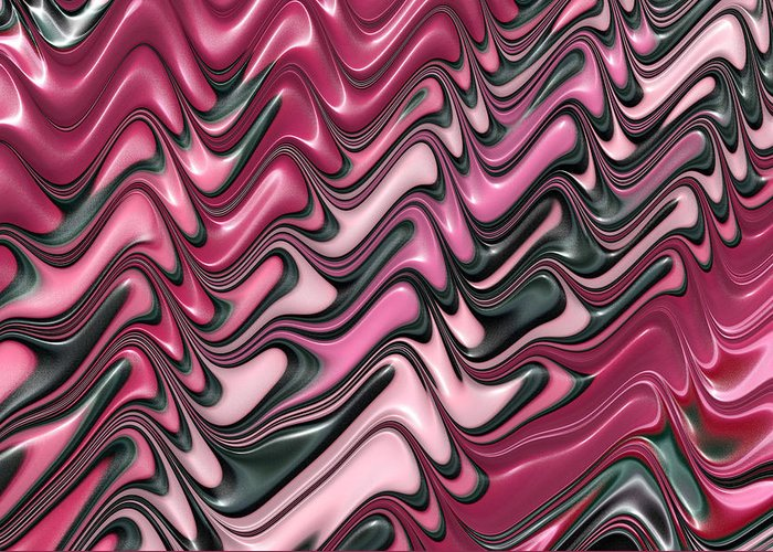 Pink Greeting Card featuring the digital art Shades Of Pink And Red Decorative Design by Matthias Hauser