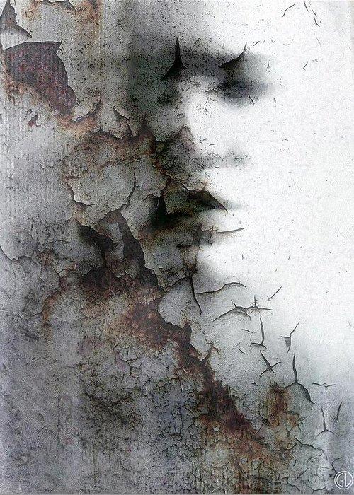Woman Greeting Card featuring the digital art Shadow On A Wall by Gun Legler