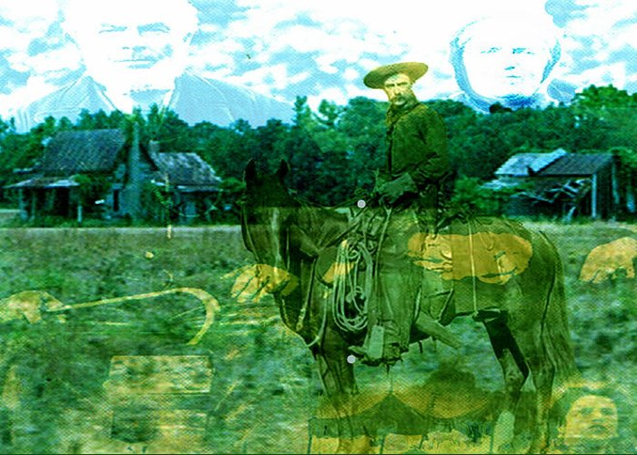 Shadow On The Land Greeting Card featuring the digital art Shadows On The Land by Seth Weaver