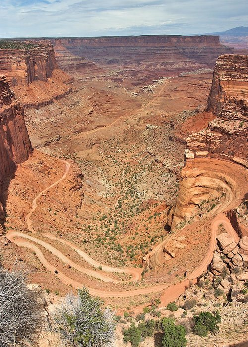 3scape Greeting Card featuring the photograph Shafer Trail by Adam Romanowicz