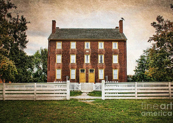 Authentic Greeting Card featuring the photograph Shaker Village by Darren Fisher