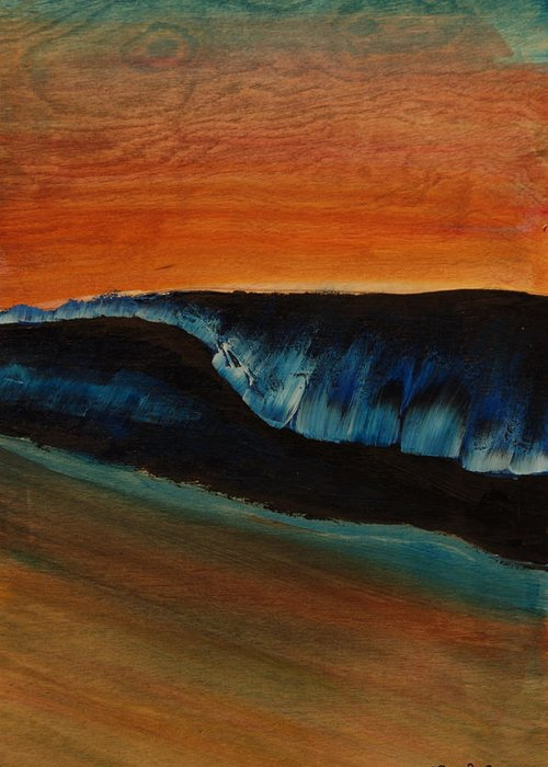 Surf Prints Greeting Card featuring the painting Shallow by Nathan Paul Gibbs