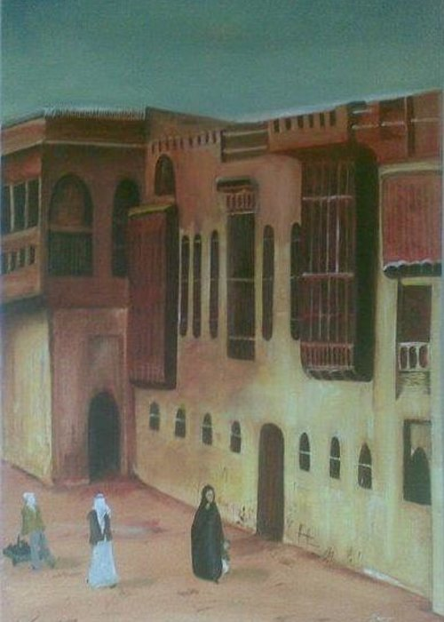 Building Greeting Card featuring the painting Shanashil Of Baghdad 2 by Rami Besancon