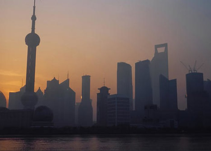Tranquility Greeting Card featuring the photograph Shanghai In Early Morning by Xijia Cao