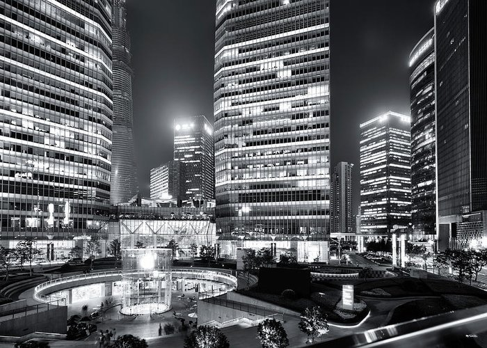 Financial District Greeting Card featuring the photograph Shanghai by Photographer - Rob Smith