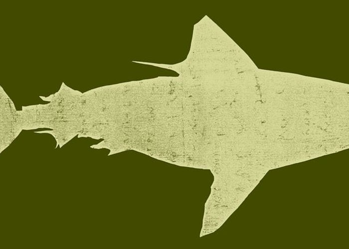 Shark Greeting Card featuring the drawing Shark by Michelle Calkins