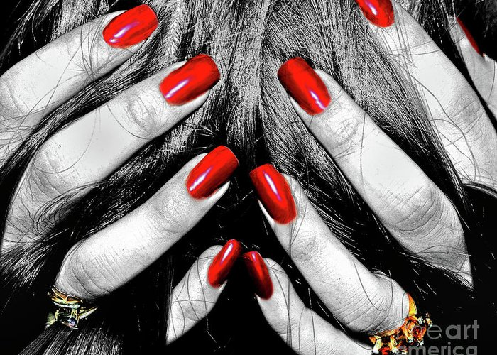 Nails Greeting Card featuring the photograph Shattered Dreams by Joann Vitali
