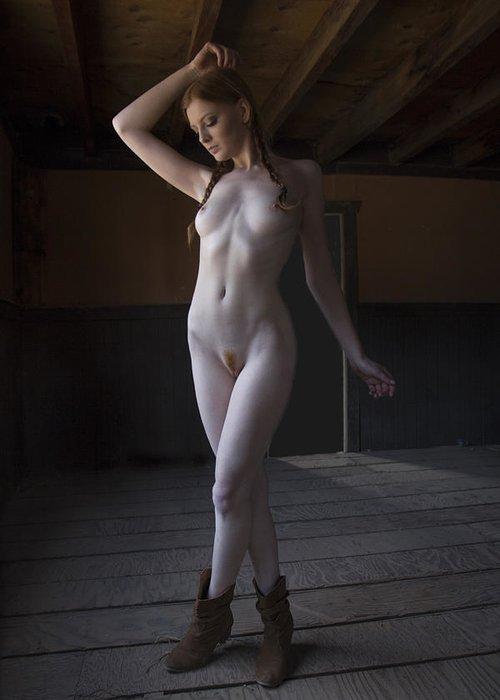 Nude Greeting Card featuring the photograph Shaun Tia by Joel Gilgoff
