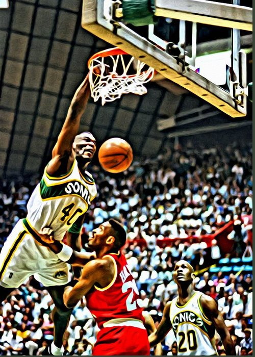 Shawn Kemp Greeting Cards